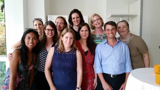 Zur Abschiedsparty kamen viele noch einmal zusammen. Wir waren ein tolles Team!